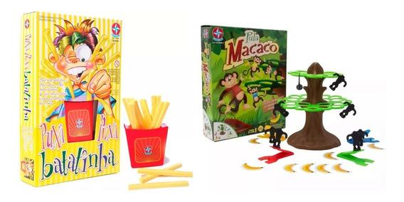 Brinquedos Jogos Pula Macaco + Puxa Batatinha Estrela