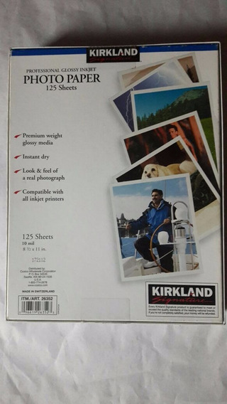 Photo Paper Glossy Kirkland-125 Sheets-260g/m-28x22cm