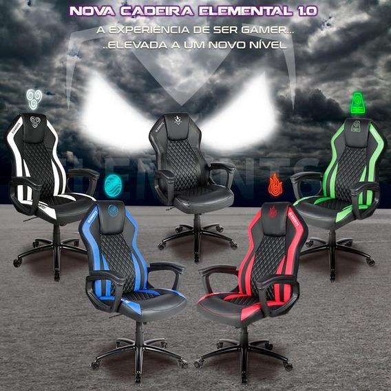 Cadeira Gamer Elements Gaming Elemental Terra Verde