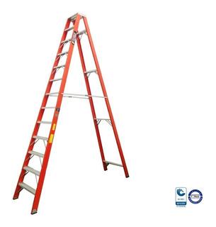 Escalera Fibra Vidrio Tijera 13 Pasos / 4.0 Mts 136 Kg
