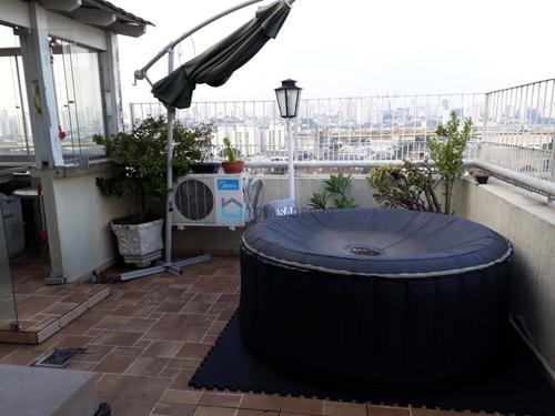 Imagem 1 de 15 de Cobertura Duplex 231m² Impecável,terraço Gourmet Enorme, 2 Vagas!5 Min A Pé Ao Pq Da Independência - Bi24184