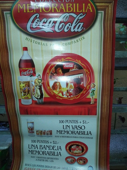 Cartel Publicidad Coca Cola* Memorabilia Año 2000 - 80 X 40