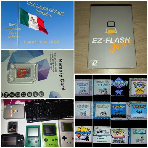 Imagen 1 de 8 de Ez Flash Jr. Nueva + Micro Sd Con 1200 Juegos Gb Y Gbc