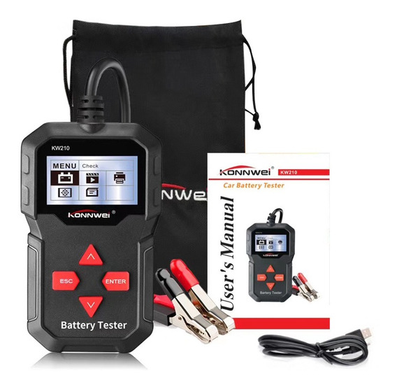 Konnwei Kw210 12 V Automotive Tester De Bateria Do Carro Dig