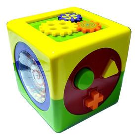 Brinquedo Pedagógico Educativo Cubo De Atividades