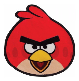 Tapete Kids Infantil Angry Birds 0,72m X 0,80m Jolitex