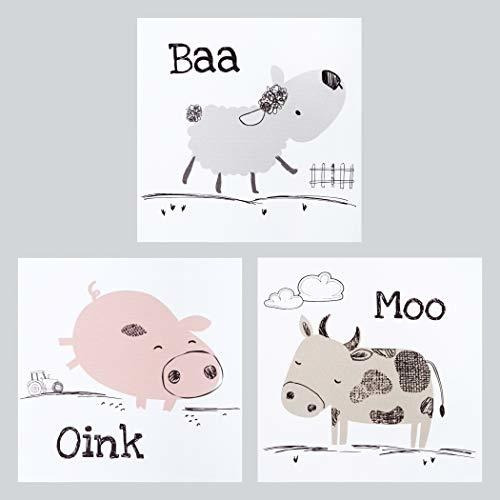 Trend Lab Farm Stack Canvas Wall Art 3 Paquete