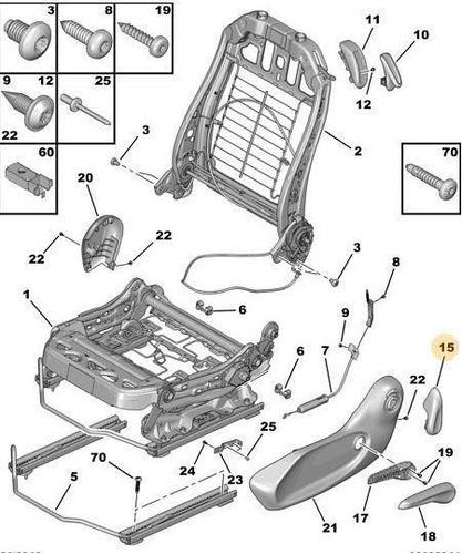 Manija Para Reclinar Asiento Derecho Peugeot 208