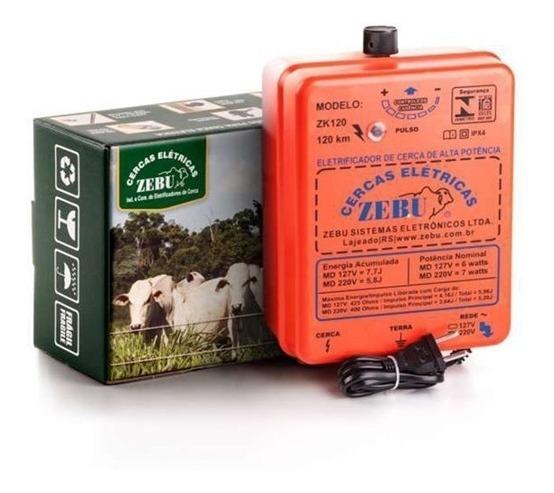 Eletrificador Cerca Elétrica Rural Zk120 Bivolt 4.500m Zebu