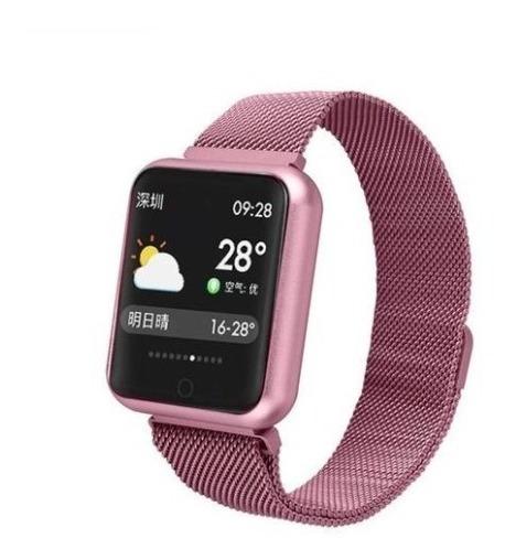 Relógio Inteligente Smartband P70 Monitor Cardíaco - Rose