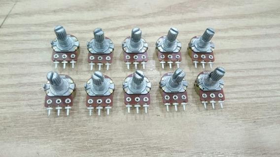 Potenciômetro 500k 16mm - Kit C/1000 Pcs