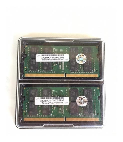 Memória Ram 64 Gb (2x32gb) Ddr4 2133mhz
