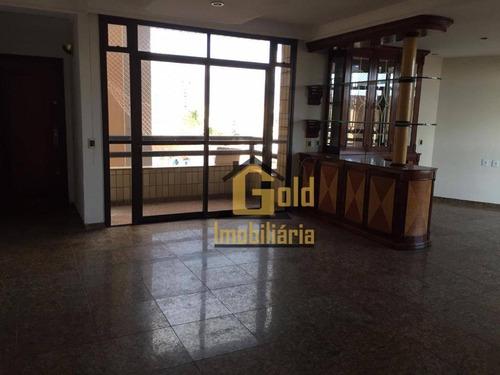 Apartamento Com 3 Dormitórios, 171 M² - Venda Por R$ 676.000,00 Ou Aluguel Por R$ 2.300,00/mês - Centro - Ribeirão Preto/sp - Ap2565