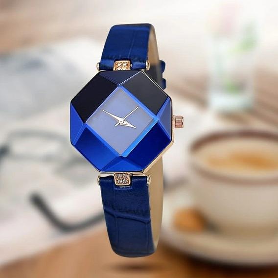 Relógios Jóia Geometria Gem Cut De Pulso - Barato