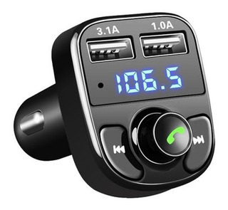 Transmisor Fm Adaptador Bluetooth Mp3 Sd Cargador De Carro