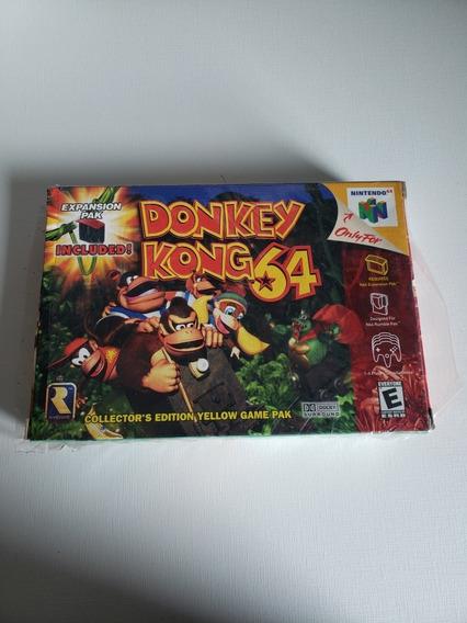 Donkey Kong 64 Nintendo 64 Na Caixa Com Plástico Original