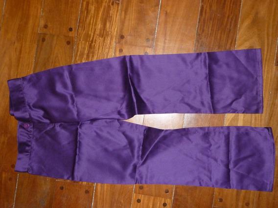 Pantalon Violeta De Tela! Como Nuevo!