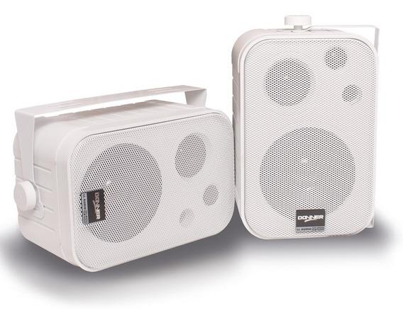 Caixa De Som Ambiente Ll Donner Sp400 Branca (par) - 60w Rms