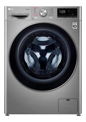 Imagen 1 de 6 de Lavasecarropas automático LG WD10 inverter inox titan 10.5kg 220V