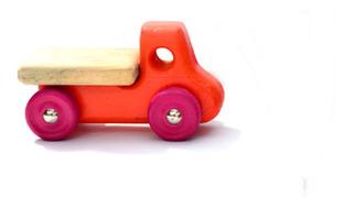 Camion De Madera Artesanal Varios Colores Ldm