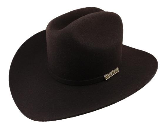 Sombrero Texana De 6 X Marca West Point Color Chocolate Lana