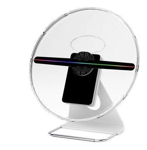 Holograma 3d De Mesa 30cm Display Led Para Propaganda Em Alta Definição Com Capa Protetora E Bateria De 4 Horas