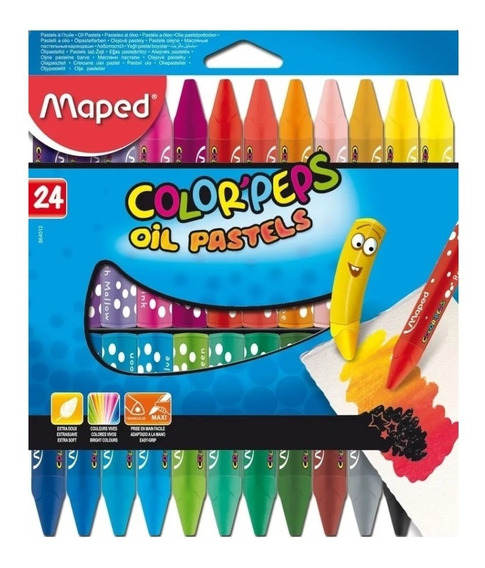 Oil Pastels Maped Color Peps Pasteles Al Oleo X 24 Edu Full