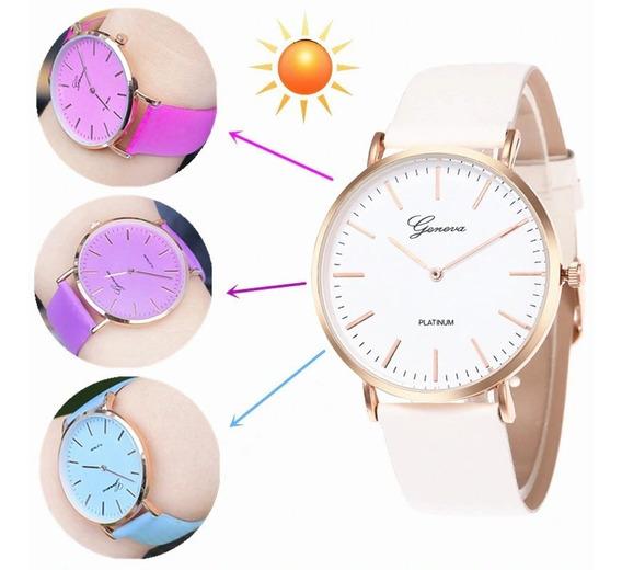 Relógio Feminino Muda De Cor Pulseira Moda Fashion Novidade