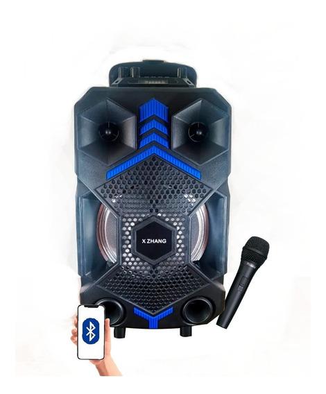 Caixa Som Amplificada Bluetooth Led Portátil Hi-fi Potente