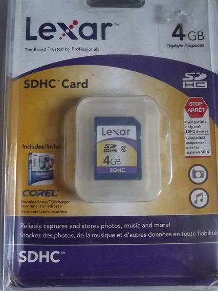 Cartão De Memória Lexar Sdhc 4gb Classe 4
