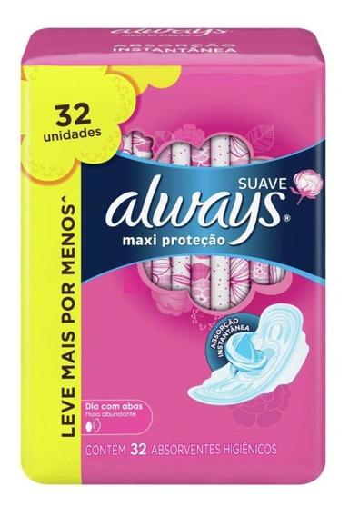 Absorvente Always Proteção Total Suave Com Abas - 32 Un