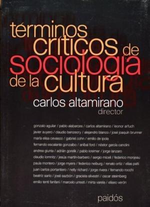 Imagen 1 de 3 de Términos De Sociología De La Cultura, Altamirano, Paidós