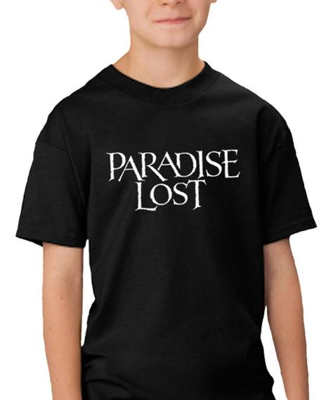 Camiseta Infantil Paradise Lost 100% Algodão