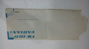 Manual Do Proprietario Do Vw Variant 1 Ano 1974 Original