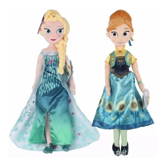 Pelúcias Frozen Fever Kit 1 Anna E 1 Elsa 50 Cm