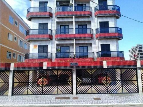 Apartamento Com 1 Dormitório À Venda, 60 M² Por R$ 180.000 - Vila Mirim - Praia Grande/sp - Ap0823