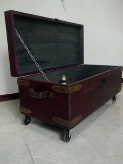 Cofre Mesa De Centro Baúl Vintage