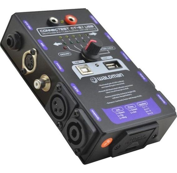 Waldman Connectest Ct-8.1 Usb Testador De Cabos Trs Xlr Rca