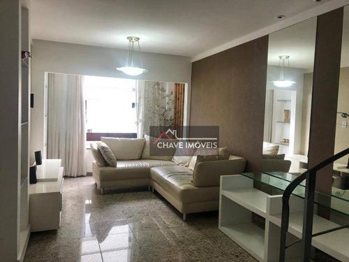 Imagem 1 de 13 de Cobertura Com 2 Dormitórios À Venda, 130 M² Por R$ 360.000,00 - Jardim Três Marias - Guarujá/sp - Co0054