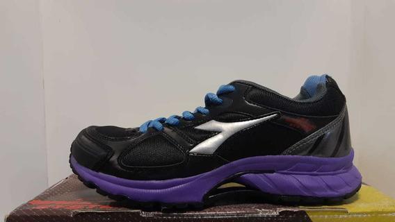 Zapatillas Diadora Nj 300 Mujer Negro