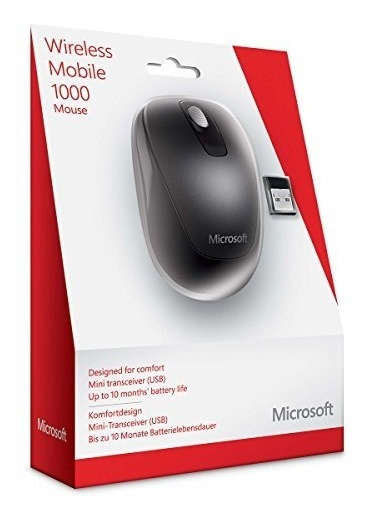 Microsoft Wireless Mobile 1000 Mouse Usb