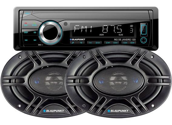 Stereo Blaupunkt Rio Usb Bluetooth + Parlantes 6x9 Pulgadas