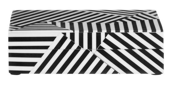 Cross Line Caixa 18 Cm X 13 Cm X 5 Cm Branco/preto