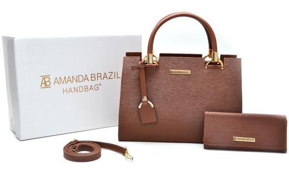 Kit Bolsa + Carteira Amanda Brazil Mod. Lorena