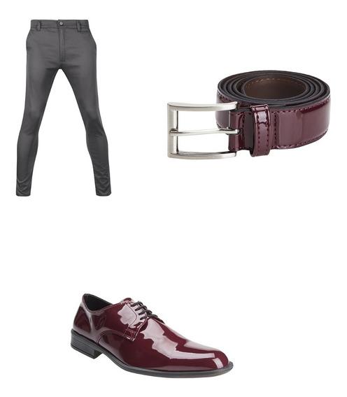 Pantalones Chupines Con Cinto Y Zapatos De Vestir Import Usa