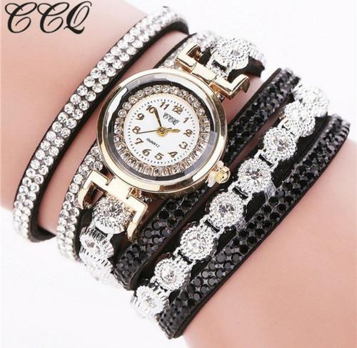 Relógio Feminino Pulseira Luxo Strass Promoção Barato Novo