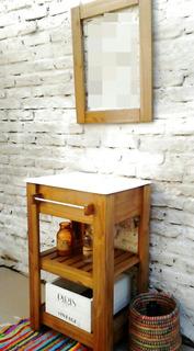 Vanitory Estilo Campo 50cm +espejo+bacha