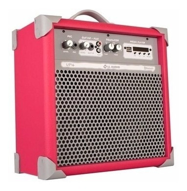 Caixa De Som Amplificada Multiuso Up!6 Pink Fm/usb/bluetooth