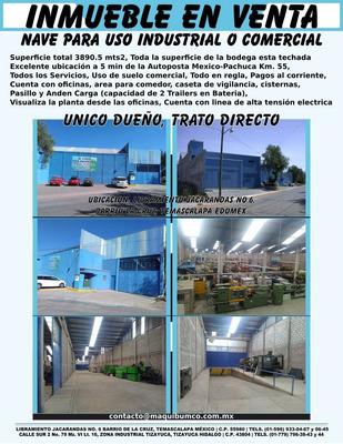 Bodega Comercial En Venta Edo. De Mexico.excelente Ubicacion