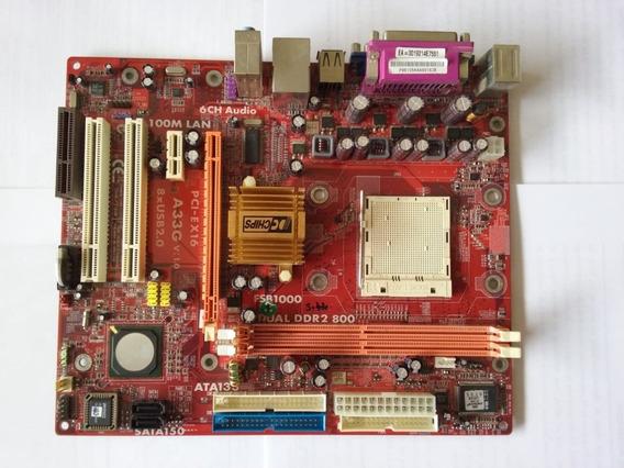 Placa Mãe A33g Fsb1000 Am2 Dual Ddr2 800 - Defeito - 13125